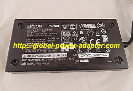NEW Epson PS-180 M159B AC Adapter 24v 2.0A 3 Pin Power Supply Genuine Epson