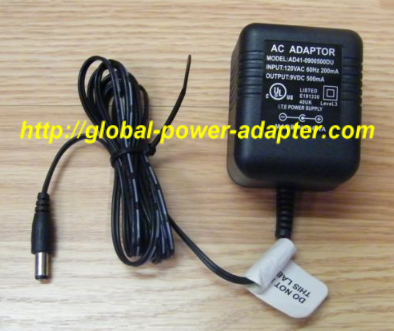 NEW Unbranded/Generic 9V 500mA 60Hz AC Adapter AD41-0900500DU Power Supply