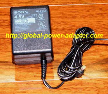 NEW Sony 4.5V 5W 60Hz 500mA AC Adapter AC-E455 Power Supply For D-235CK Discman