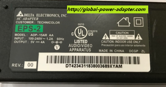 NEW Delta Electronics ADP-15AR AA AC DC ADAPTER 5.5 X 2.1mm