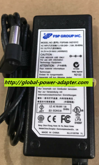 NEW FSP GROUP INC FSP048-1AD101C 24V 2A 5.5 X 2.1mm ADAPTER POWER SUPPLY