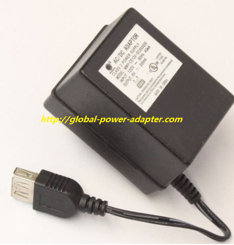 NEW Mingway MWY-CE120-DC050200 Adapter Output 5V 200mA USB Port AC Power Supply