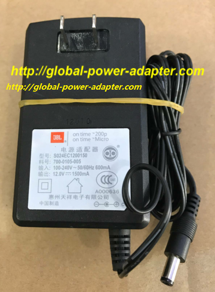 NEW UBL S024EC1200150 700-0105-005 12V 1500mA AC ADAPTER 5.5 X 2.1mm POWER SUPPLY