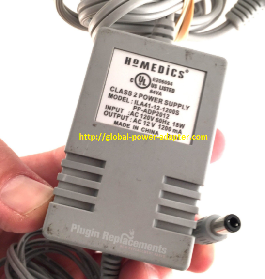 Brand NEW Homedics 12V 1200mA 18W FOR ILA41-12-1200S PP-ADP2012 Power Supply Adapter