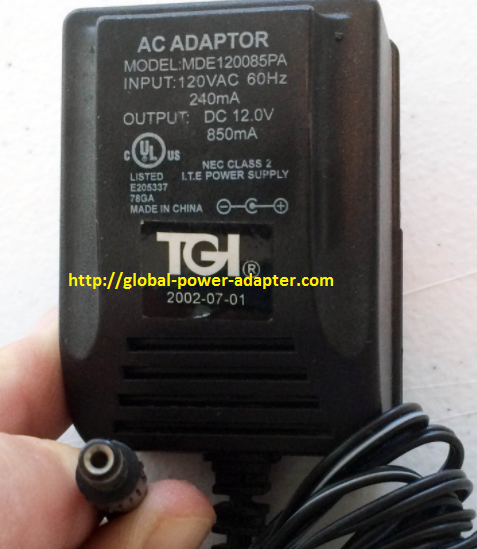 Brand NEW TGI EC 12.0V 850mA 12V FOR model MDE120085PA Power Supply AC/DC Adapter Wall Wart