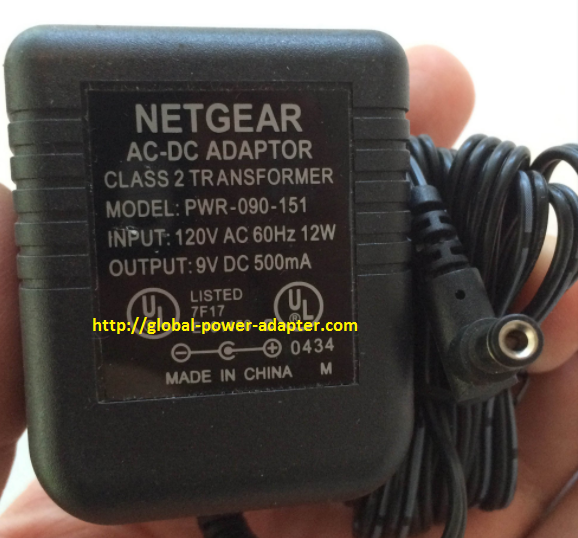 Brand NEW NETGEAR 9V DC 500mA FOR Router PWR-090-151 Power Supply AC/DC Adapter Wall Wart