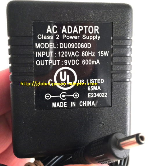 Brand NEW Adapter Charger 9VDC 9V 600mA DU090060D AC OEM Power Supply