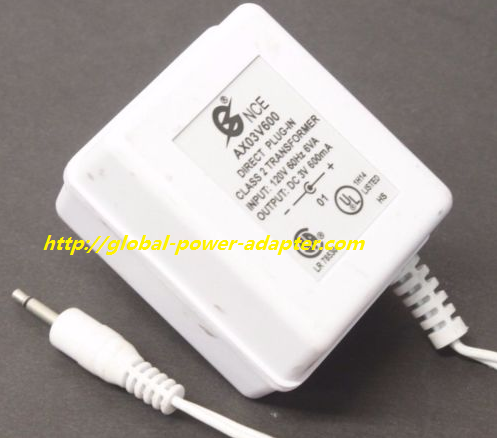 NEW ONCE Adapter Charger Output 3V 600mA FOR AX03V600 AC DC Power Supply