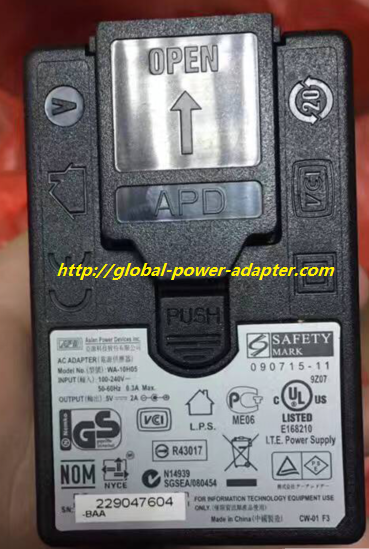 NEW APD WA-10H05 5V 2A AC ADAPTER POWER SUPPLY